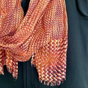 The Limited 🍂 Fall Orange Pattern Scarf